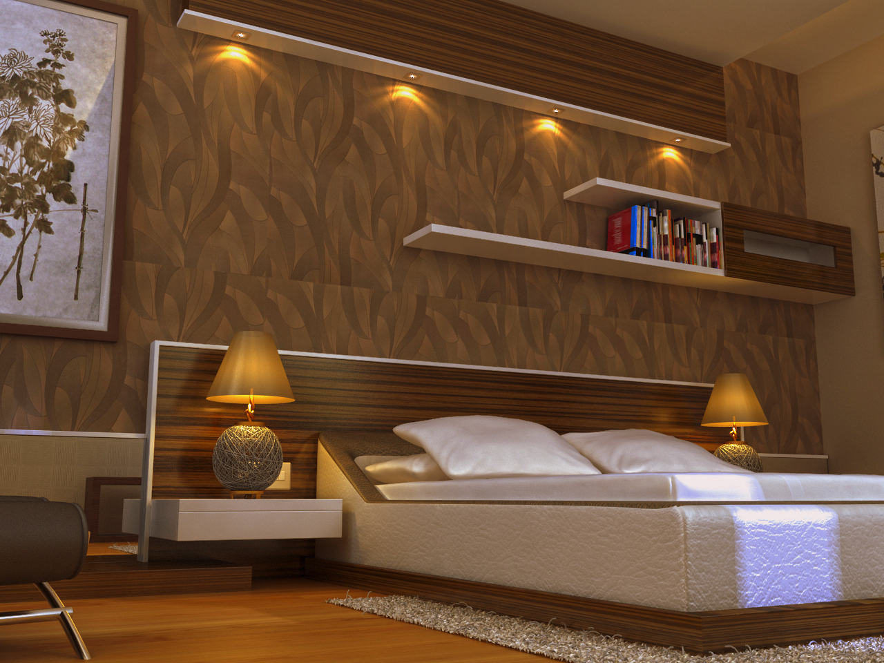 What are the key tasks performed by interior designers for Bedroom designs mumbai